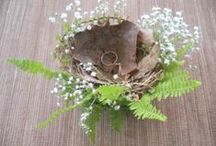 Ring Bearer Pillow / Looking for an eco-friendly ring pillow for your wedding? Browse our ring bearer pillows board. You will find many ideas for earth-friendly wedding ring pillows including ones made from antique books, burlap, moss, shells and other recycled and natural materials.