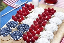 4th Of July Wedding / Are you plannning an eco-friendly Fourth Of July wedding? Browse our 4th of July wedding ideas board and find ideas for your red, white and blue cake, desserts, drinks, makeup, and décor for your 4th of July wedding.