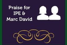 Praise for Marc David and IPE / Check out some of the great feedback we've received. It warms our heart. We always love hearing from our tribe.  Check it out here: http://psychologyofeating.com/testimonials/written-testimonials/ / by Institute for the Psychology of Eating