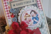 cards vintage shabby handmade
