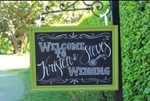 Wedding Chalkboard Details / Do you love rustic wedding chalkboard signs? We do too! Browse our eco friendly chalkboards for weddings - including chalkboard signs, chalkboard wedding favors and DIY chalkboard projects.  / by Green Bride Guide