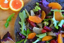 """Salads / """"To remember a successful salad is generally to remember a successful dinner; at all events, the perfect dinner necessarily includes the perfect salad."""" ~George Ellwanger  / by Tam"""