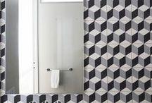 CARREAUX DE CIMENT / CEMENT TILES / Sélection d'intérieurs décorés avec des carreaux de ciment