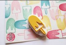 Stamping Frenzy / Stamps! Stamps! More stamps!