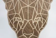Interior birch plywood wall art / Beautiful & unique geometric big cat wall art carved from Birch plywood. #birch #plywood #wall #art #bespoke #furniture