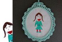 Crochet Decorative Items / Crochet garlands,crochet bunting banners, crochet frames,crochet wall hangings, / by Sara Rivka Dahan