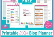 Blogging Printables / free printables for bloggers: ►editorial calendars ►post planning pages ►blogging checklists ►guest post forms ►sponsor recordkeeping pages / by Jimmie Lanley