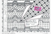 Zentangle / My tangles are here >>> https://fr.pinterest.com/melucrafts/my-art/ <<<
