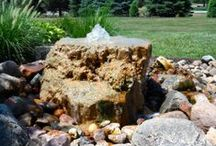 backyard fountains / Fountains and water features for backyards and patios.