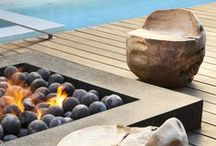 backyard firepits / Adding fire to the backyard with firepits and fireplaces