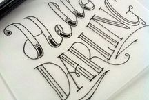 Lettering Love / Inspiration from various handlettered designs.