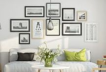 style your wall / Get inspired and create your own #ArtWall with these ideas for styling a gallery wall layout that personal and gorgeous to look at.
