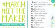 Mollie Makes Handmade Awards 2017 / Hello! I'm Joanne Hawker and I'm the one responsible for clogging up your Instagram news feed with the hashtag #MarchMeetTheMaker. The hashtag aims to help people to tell their business story throughout March and helps to give them a month of interesting content to help get their businesses 'out there'. It's also a great opportunity to meet other like minded creative people and discover new talents to follow. The category I'd like to enter is the Handmade Champion Award.