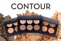 CONTOUR / Create the illusion of higher cheekbones, a smaller forehead, a softer jawline, or a slimmer nose with our blendable formulas that can be applied as subtly or dramatically as you like.
