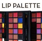 LIP PALETTE / An 18-well professional lip palette with shades ranging from primaries and neutrals to bold brights. Use Anastasia Beverly Hills Lip Palette to create an endless array of lip looks by mixing and customizing highly pigmented, long-wearing matte shades.  Includes mixing plate and double-ended lip brush and spatula Bold primary colors to mix, layer and customize Wear alone or mixed together.