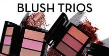 BLUSH TRIOS / Full pigment blush for buildable intensity with a seamless finish. Layer more than one shade of Anastasia Beverly Hills Blush Trio for a multi-dimensional, naturally flushed look.