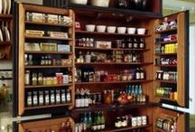 Pantry / A pantry can help you save money by providing a place to store items you find on sale. From a cupboard to an entire room, any space can be turned into a pantry. / by Shannon L. Buck - Author