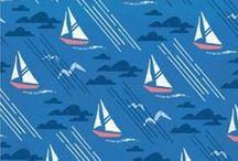 Nautical / sailing, nautical, surface design, inspiration, prints, patterns, boat, sea, ocean / by Sara Berrenson