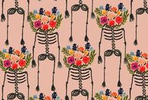 Holidays - Halloween / halloween, holidays, art, watercolor, illustration, surface design, prints, patterns, art, artwork, giftwrap, textile design, textiles, holiday art, holiday, holiday illustration, home decor, print, pattern / by Sara Berrenson