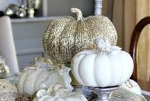 Putting on the Ritz, Thanksgiving Style / Dressing the table up with Golds and Silver.  Making the dinner appear Lavish and Rich.  Everyone can dress up a bit that day and make it a real event. / by ::::::Beth Sumerlin O'Briant::::::