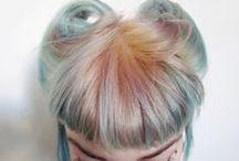 It's just Hair / #hair #shorthair #longhair #edgyhair #pinkhair #bluehair #edgy #alternative  / by Hannah Loveless