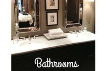 Dazzling Bathrooms / Only the most elegant bathrooms seen here, fabulous decor  to spark your design dreams!