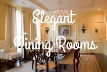 Elegant Dining Room Areas / These dining spaces are perfect for simple family dining or special occasions.