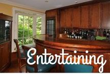 Entertaining Areas / From movie theaters to in-home bars, these extra elements add  flair to a home.