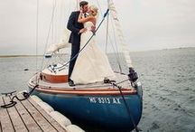 Nautical Wedding Ideas / Blue and white nautical ideas for glamorous coastal weddings / by Beau-coup