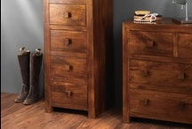 Dressers / A range of chunky, solid chests of drawers, offering lots of storage space for clothing and other clutter, all lovingly hand-crafted in solid Mango, Acacia and Sheesham.