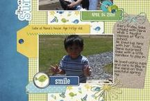 Scrapbook Layouts (Jen Wright Designs) / My personal scrapbook layouts. You can find more inspirationon my blog http://www.jenwright.net / by Jen Wright