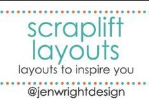 Scrapbook Layout Inspiration / Sharing scrapbook layouts to scraplift to inspire memory making for future scrapbooking layouts.- www.jenwright.net / by Jen Wright