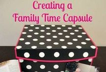 Family Time Capsule Ideas / Ideas for making a family time capsule to inspire memory making / by Jen Wright