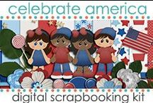 Scrapbook Kits: Celebrate America / Celebrate America {PU/S4U} is a patriotic kit with adorable children and bright patriotic color palette. http://www.jenwright.net / by Jen Wright