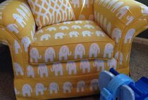 Logan's Elephant Nursery / My sons nursery. My most favorite room in the