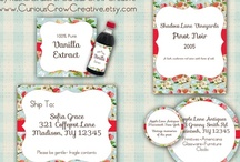 Free Printables for Crafts and Home / Free printables and labels that may be useful for crafts, handmade gifts or to use around the home for organisation