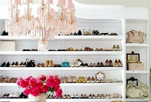 CLOSET SPACE /// / A collection of images for inspiration on building a woman's dream closet.