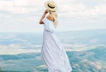 MAXIS /// / A collection of outfit ideas for maxi dresses and long skirts