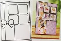 Card Sketch Ideas / Ideas for layouts for card making