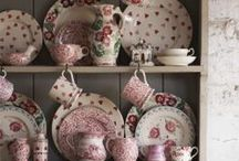 Dressers and Pretty Crockery / I would love to have a large dresser in my kitchen/dining room with pretty crockery displayed