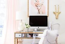 HOME OFFICE /// / Home office organization and design ideas.