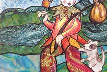 Laura Stamper tarot illustrations / Tarot cards original illustration
