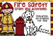 Fire Safety / Activities and crafts to teach students about fire safety and firefighters.