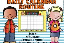 Calendar...Journals and Activities / Your class will enjoy recording the date, special events (student birthdays), temperature, and the weather.  These routines are followed by a daily journal page which introduces writing the date and daily math review.
