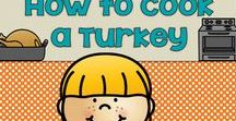 Thanksgiving / How to Cook a Turkey Freebies ideas on spending the last few days in the classroom enjoying Thanksgiving.
