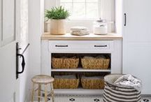 LAUNDRY ROOM /// / Laundry room ideas for the home.