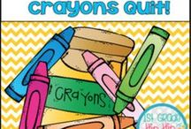 The Day the Crayons Quit / word work literacy writing craft colors