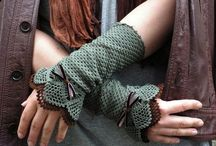 Crochet Knit: Gloves Mittens Wrist Warmers / ~ warm-wear for Fall & Winter / by Chiêu