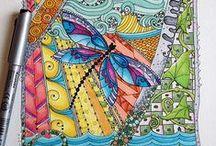 Mandala / Zendala - inspiratie / Inspiratie voor het Mandala-tekenen, -schilderen, -haken, etc....