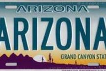 """ARIZONA - """"THE GRAND CANYON STATE"""" / FOUR CORNERS OF USA - ARIZONA You need to know that Monument Valley and Lake Powell both border  on  the state of Utah and Arizona / by Diane"""